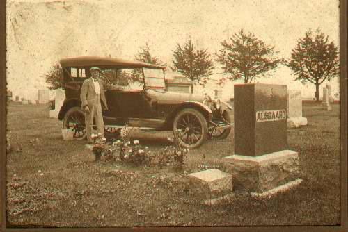 Man in Graveyard c. 1917, WHC Collections, 0083.008.0005.111